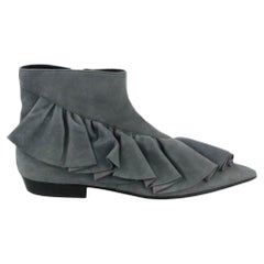 JW Anderson Ruffled Suede Ankle Boots