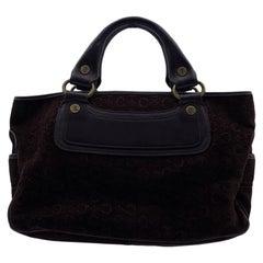 Celine Brown Suede C Macadam Boogie Bag Tote Handbag