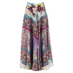 Etro Printed Silk Crepe De Chine Maxi Skirt