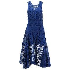 Chloé Asymmetric Crocheted Lace Midi Dress