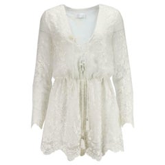 Zimmermann Lucia Lace Up Embroidered Silk Georgette Playsuit
