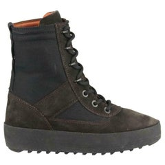 Yeezy Season 3 Textured Nylon & Suede Boots