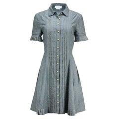 Yigal Azrouel Pleated Cotton Blend Shirt Dress
