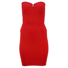 Zac Posen Strapless Stretch Woven Mini Dress