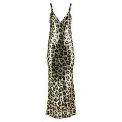 Haider Ackermann Leopard Print Silk Blend Maxi Dress