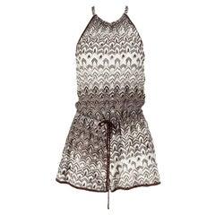Missoni Mare Halterneck Crochet Knit Playsuit
