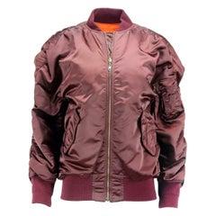 Balenciaga Reversible Satin Bomber Jacket