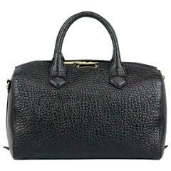 Burberry Black Alchester Medium Textured Leather Tote Bag