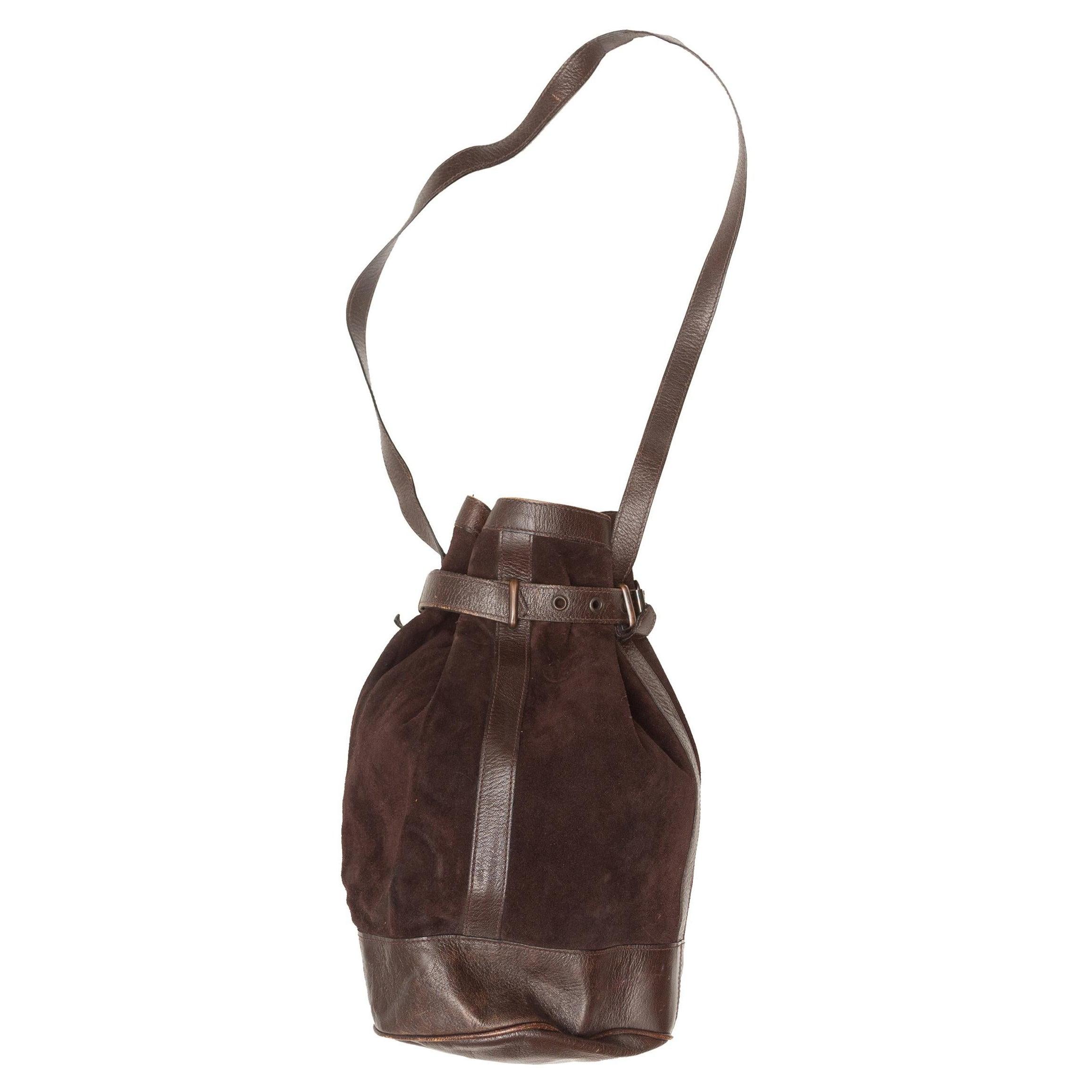 Yves Saint Laurent Brown Suede Bucket Bag