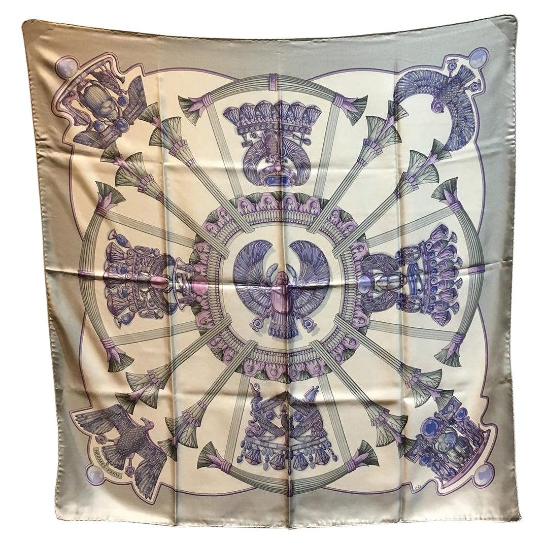 Vintage Hermes Egypte Silk Scarf c1970s