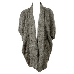 1980's ISSEY MIYAKE boucle knit grey cocoon sweater coat