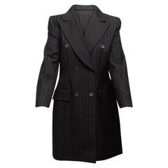 Givenchy Black Couture Shiny Skirt Suit