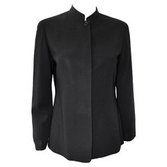 Emanuel, Emanuel Ungaro! Round collar, Silk, Fully Lined, Casual Jacket, Size 6