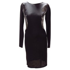 Hussein Chalayan Black and Silver Dress