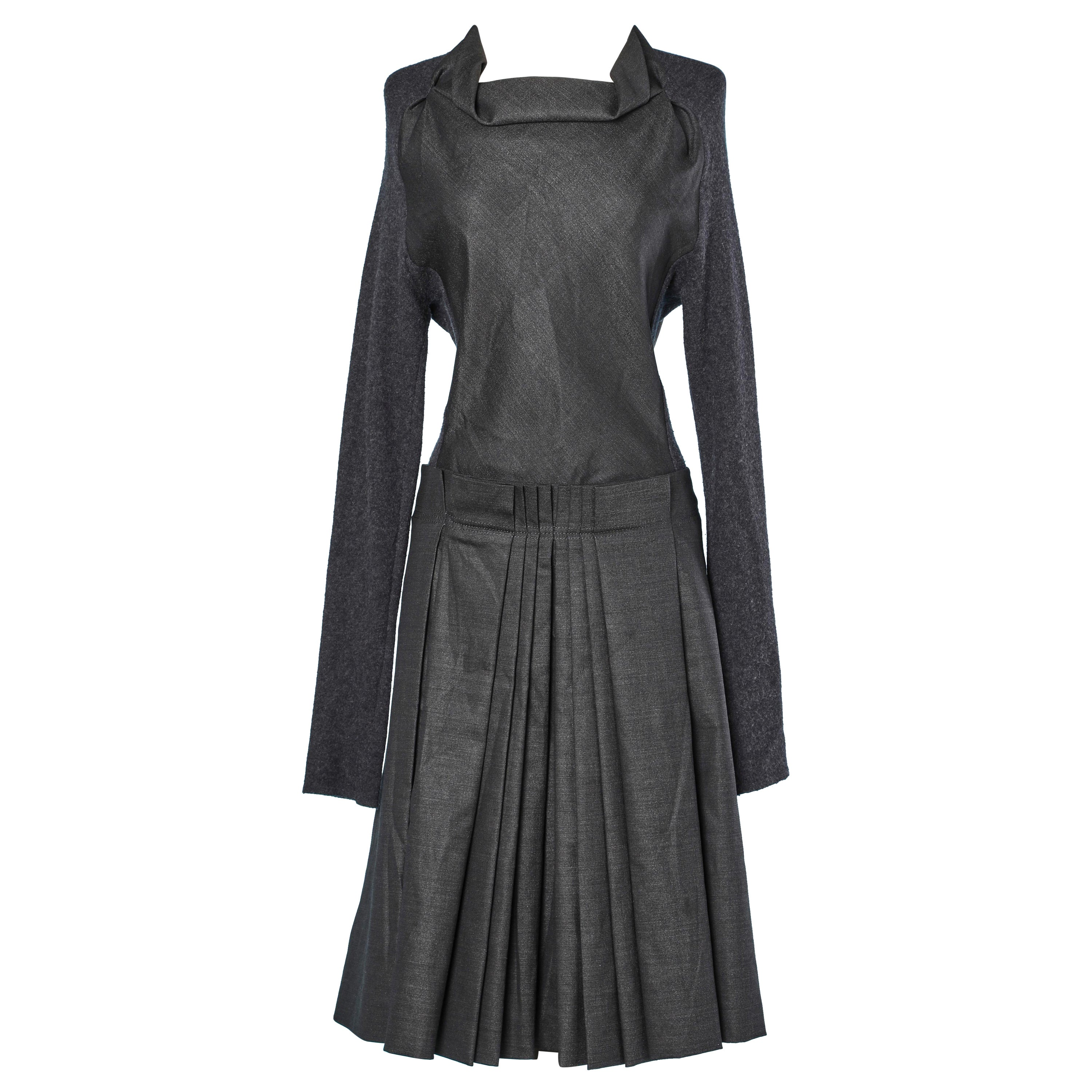 Grey dress in knit and wool Jacques Fath