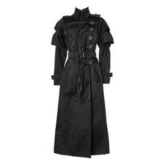 "Long double breasted black coat "" Steampunk "" style Gianfranco Ferre"