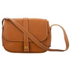 Hermes Vintage Classic Gold Leather Shoulder Bag