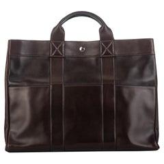 Hermes Cocoa Brown Leather Handbag