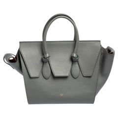 Celine Grey Leather Small Tie Tote