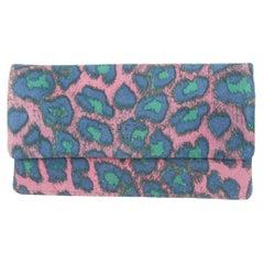 Liebeskind Light Pink & Multicolor Leopard Print Wallet