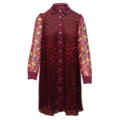Diane Von Furstenberg Black & Multicolor Makayla Dress