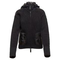 Burberry Black Sport Knit Zip Hoodie