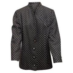 Krizia Grey & White Wool Polka Dot Jacket