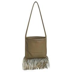 Bonnie Cashin for Coach Bag Cashin Carry Leather Fringe Swing Shoulder Bag 60s
