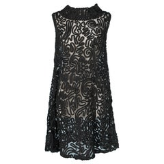 1960's See-through black embroidered Yves Saint Laurent Rive Gauche