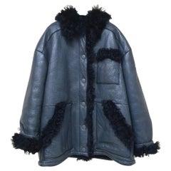 Prada Fur Trimmed Winter Leather Jacket