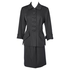 Anthracite wool skirt-suit Christian Dior