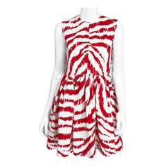MSGN Milano Red & White Zebra Print Dress NWT