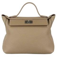 Hermès 2020 24/24 35cm Clemence and Swift Leather Handbag