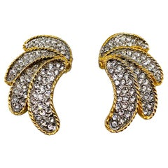 LES BERNARD 1980s Vintage Clip On Earrings