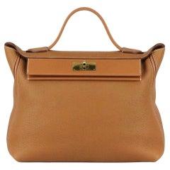 Hermès 2019 24/24 35cm Taurillon Maurice and Swift Leather Handbag