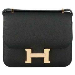 Hermès 2020 Constance 19cm Epsom Leather Shoulder Bag