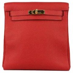 Hermès 2018 Kelly Ado II 22cm Clemence Leather Backpack