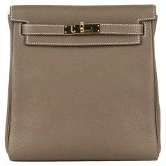 Hermès 2019 Kelly Ado II 22cm Clemence Leather Backpack