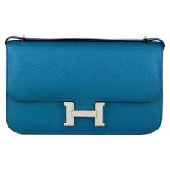 Hermès 2014 Constance Elan Epsom Leather Shoulder Bag