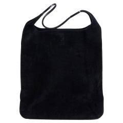 1990 Gucci Black Suede Vintage Shoulder Bag