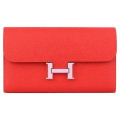 Hermès 2019 Constance Epsom Leather Long Wallet