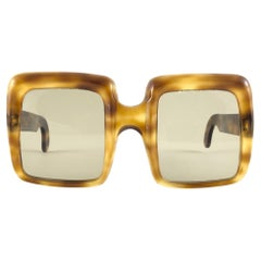 New Rare Vintage Lanvin by Philippe Chevallier Oversized 1960's Sunglasses