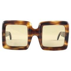 Rare Vintage Lanvin by Philippe Chevallier Tortoise Oversized 1960 Sunglasses