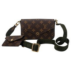 New Louis Vuitton Monogram Mini Felicie Multi Bag