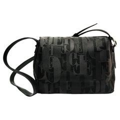 1990s Gianfranco Ferre Logo Print Shoulder Bag