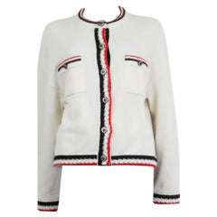 CHANEL white cashmere 2019 OVERSIZE Cardigan Sweater 38 S