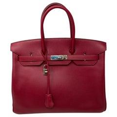 Hermes Birkin Rubis 35 Bag