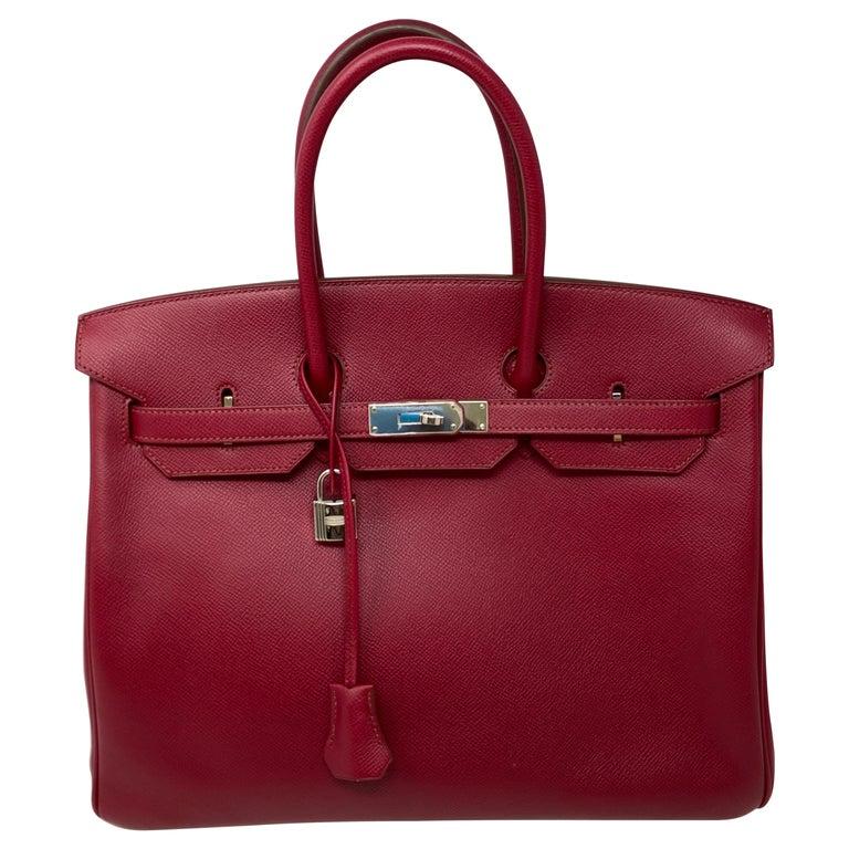 Hermes Birkin Rubis 35 Bag For Sale