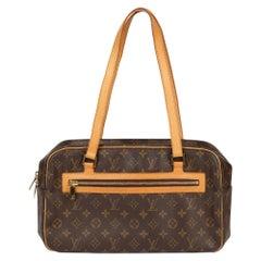 Louis Vuitton Brown Monogram Coated Canvas & Vachetta Leather Cite GM