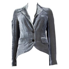 ETRO grey viscose VELVET TAIL Blazer Jacket 40 S